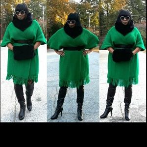 Green Cape Scarf or Dress
